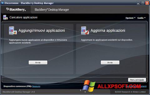Снимка на екрана BlackBerry Desktop Manager за Windows XP