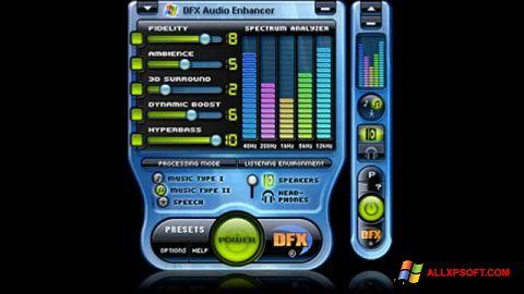 Снимка на екрана DFX Audio Enhancer за Windows XP
