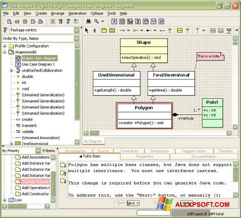 Снимка на екрана ArgoUML за Windows XP