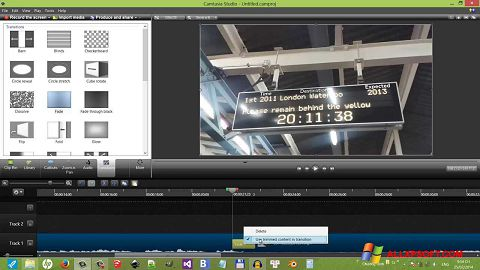 Снимка на екрана Camtasia Studio за Windows XP