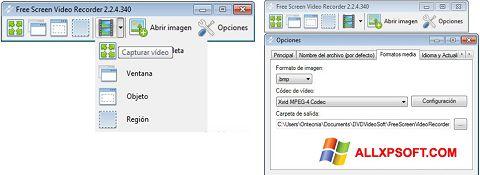 Снимка на екрана Free Screen Video Recorder за Windows XP