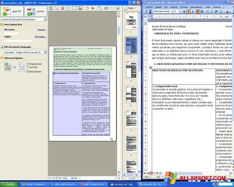 Снимка на екрана ABBYY PDF Transformer за Windows XP
