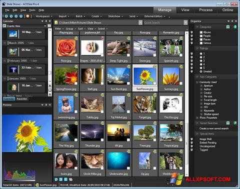 Снимка на екрана ACDSee за Windows XP