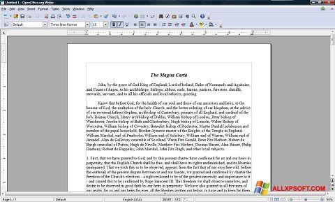 Снимка на екрана OpenOffice за Windows XP