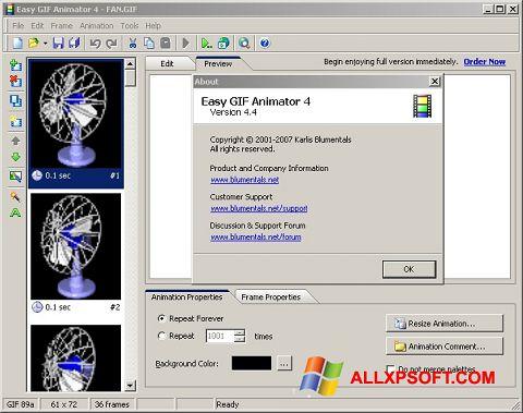 Снимка на екрана Easy GIF Animator за Windows XP