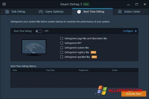 Снимка на екрана Smart Defrag за Windows XP