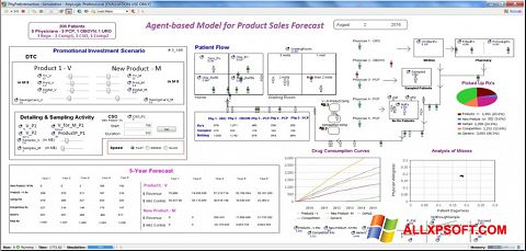 Снимка на екрана AnyLogic за Windows XP