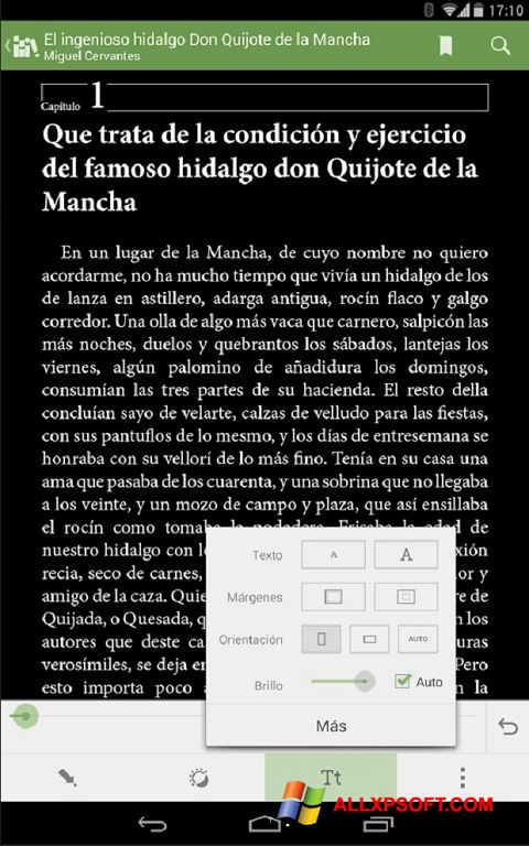 Снимка на екрана BookReader за Windows XP