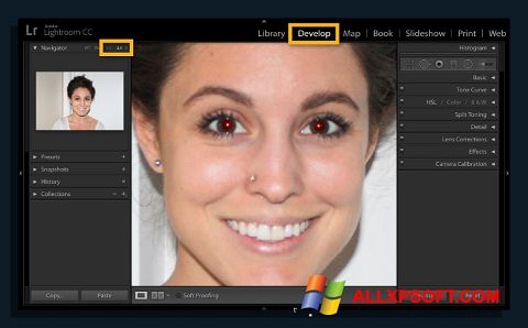 Снимка на екрана Red Eye Remover за Windows XP