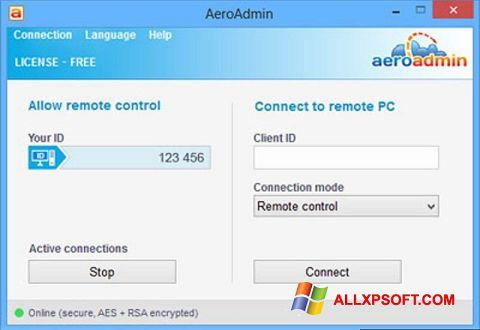 Снимка на екрана AeroAdmin за Windows XP